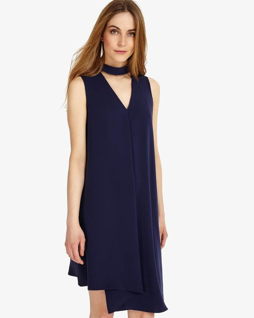 Phase Eight - Blue Taylor Pleat Front Dress - Lyst