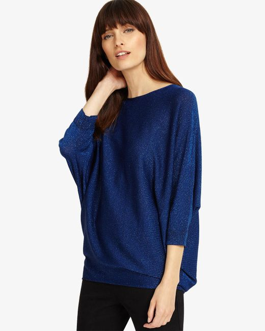 Phase Eight - Blue Shimmer Becca Batwing Jumper - Lyst