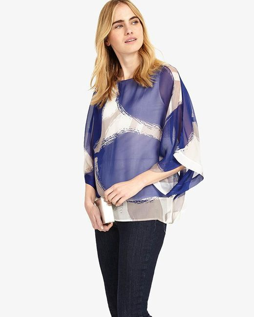 Phase Eight | Blue Esmerelda Print Silk Blouse | Lyst