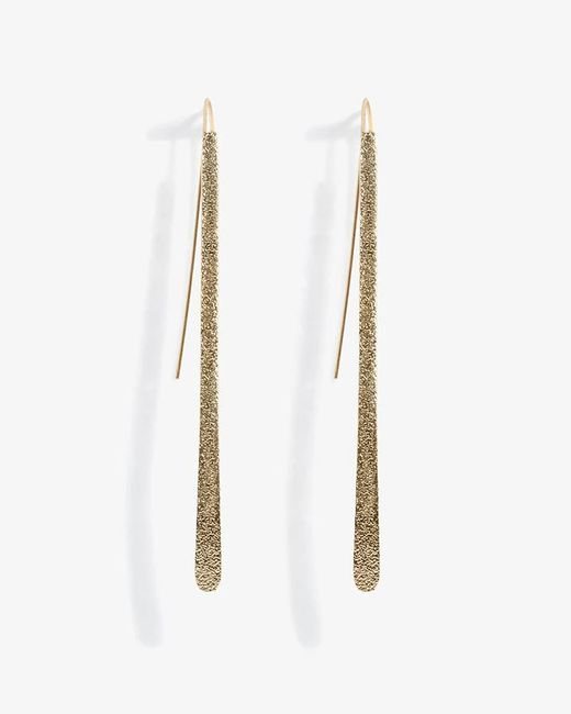 Phase Eight - Metallic Lilly Sand Blast Pull Through Earring - Lyst