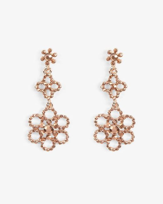 Phase Eight - Multicolor Alexia Flower Stone Drop Earrings - Lyst