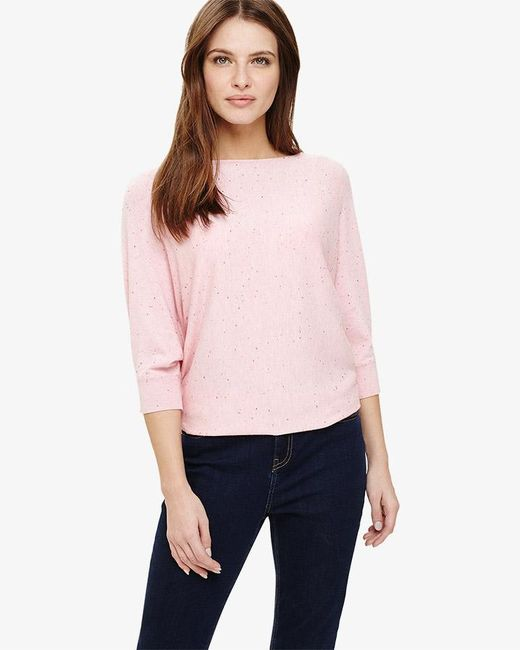 Phase Eight - Pink Becca Coloured Fleck Knit Top - Lyst