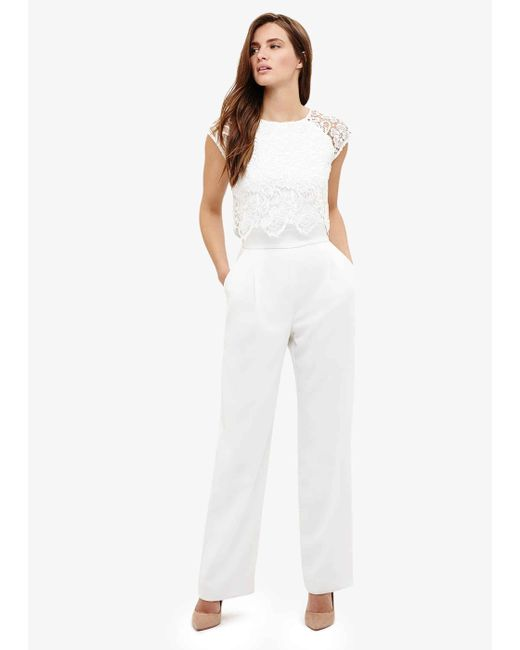 Phase Eight - White Cortine Lace Jumpsuit - Lyst