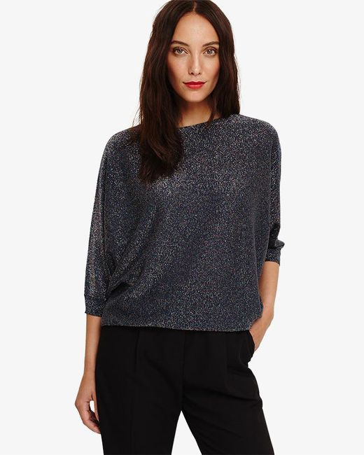Phase Eight - Blue Becca Multi-coloured Shimmer Knit Top - Lyst
