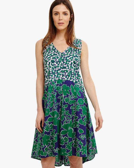 Phase Eight - Green Eloise Floral Dress - Lyst