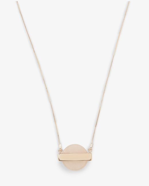 Phase Eight - Mae Pink Stone Long Pendant Necklace - Lyst