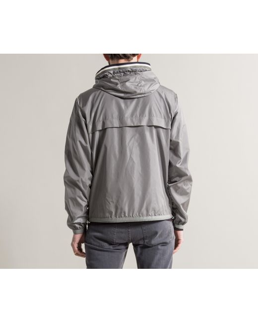 ... Moncler - Metallic 'anton' Nylon Hooded Jacket Silver for Men ...