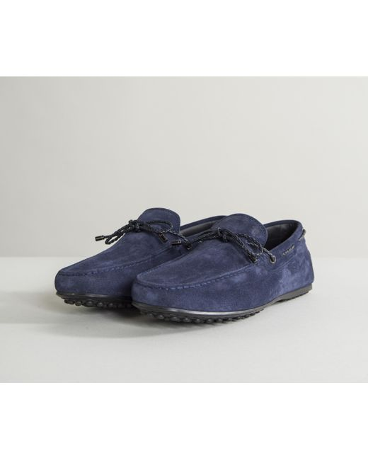 Scooby Doo Full Rubber Sole Lace Driving Shoes Navy Tod's 75RwWG