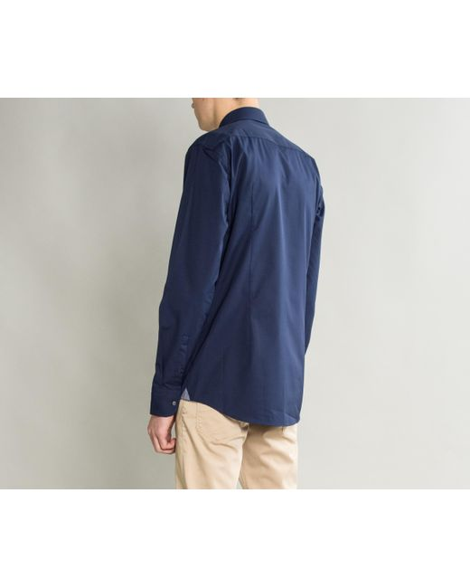 49dc6a766 ... BOSS - Blue 'jerris' Easy Iron Formal Shirt Navy for Men ...