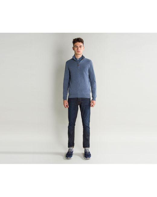 Ralph Lauren - Italian Yarn 1/4 Zip Merino Wool Knit Supply Blue for Men - Lyst