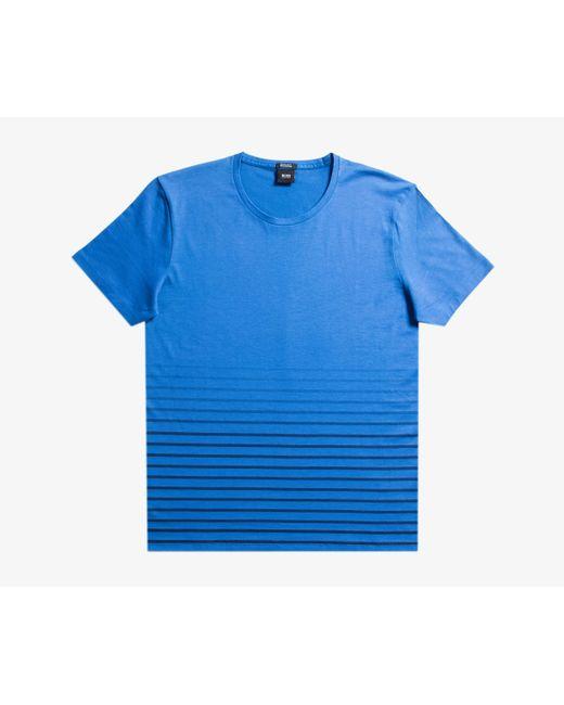 BOSS - 'tilburt 05' Striped T-shirt Electric Blue for Men - Lyst