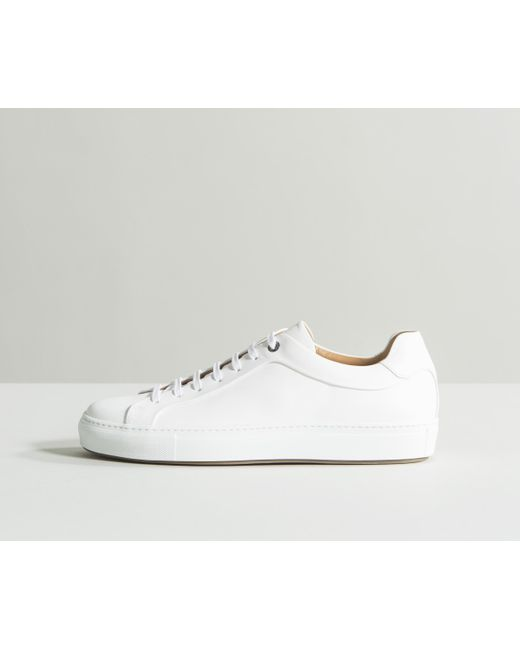 fd3714a194371f BOSS -  mirage tenn  Tennis-style Burnished Leather Trainers White for Men  - Lyst ...