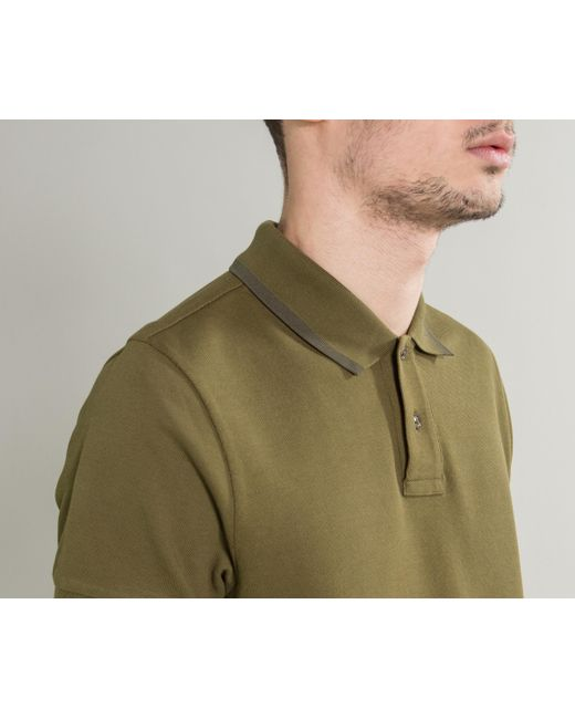 olive green moncler polo