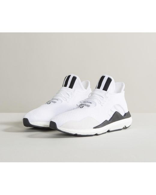 ee97a815c28 Lyst - Y-3  saikou  Low Top Knitted Trainers White in White for Men