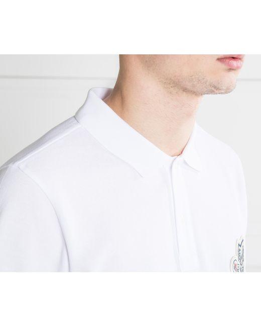 f7c01bd5 ... Moncler - Double Logo 2-button Polo White for Men - Lyst ...