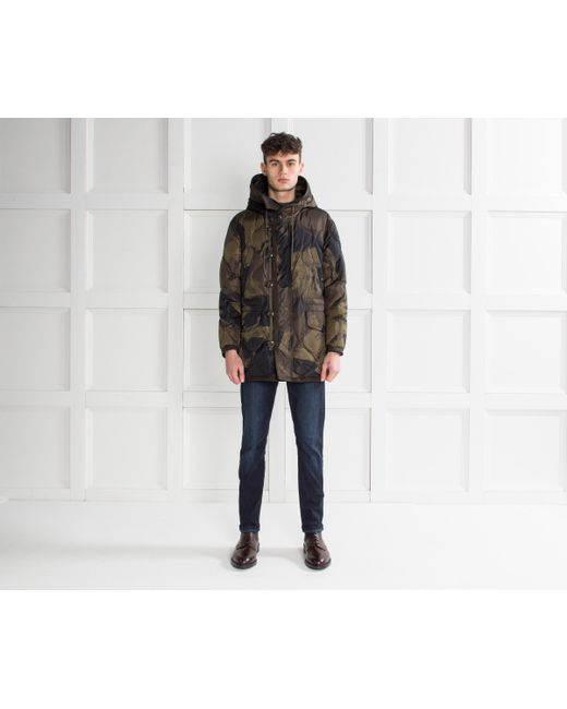 a0314a29b916 ... sale moncler gaillon camouflage hooded jacket green for men lyst 7f000  66134