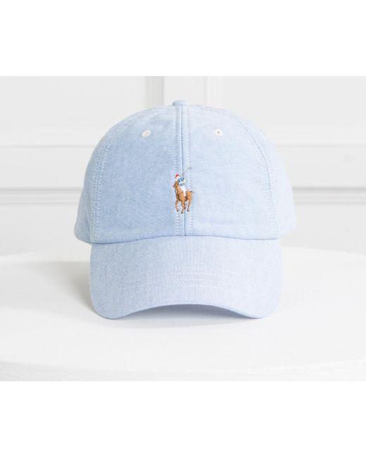 528060b19 Polo Ralph Lauren Classic Cap Oxford Blue in Blue for Men - Lyst