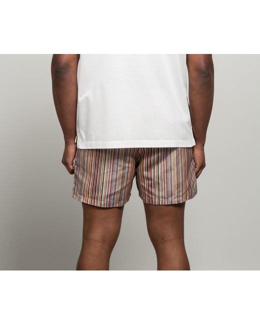 e20ee11066 ... Paul Smith - Multicolor 'signature Stripe' Short Length Swim Shorts  Multi for Men -