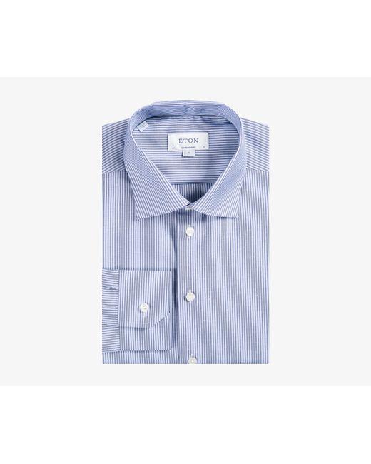 Eton of Sweden - Contemporary Fit Striped Cotton/linen Blue for Men - Lyst