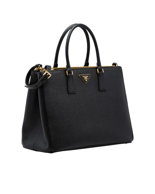 183aab9c8e ... Prada - Black Galleria Bag - Lyst ...
