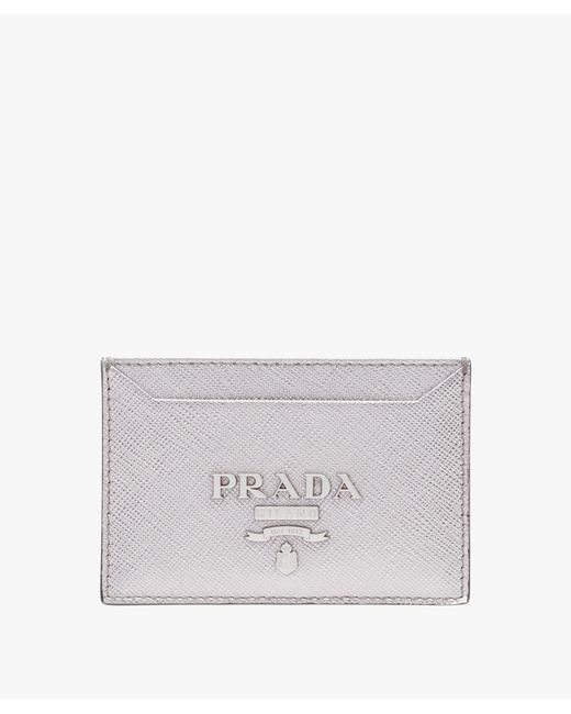 76e5baa1d1d8 ... uk prada multicolor saffiano leather credit card holder lyst f9264 737f4