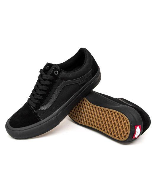 e284c9ee40 Vans Old Skool Pro Shoes in Black for Men - Save 43% - Lyst