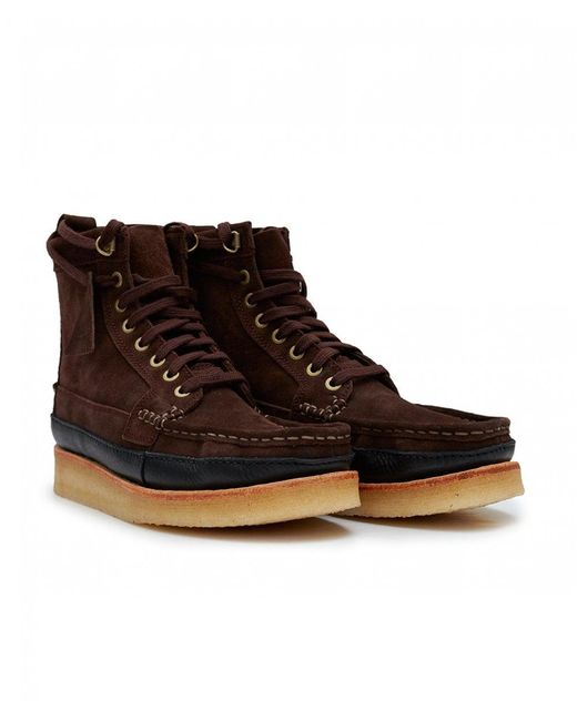 Clarks Brown Wallace Mid Suede Boots for men
