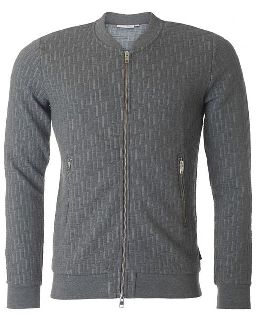 J.Lindeberg | Gray Randell Quilted Bomber Sweat for Men | Lyst