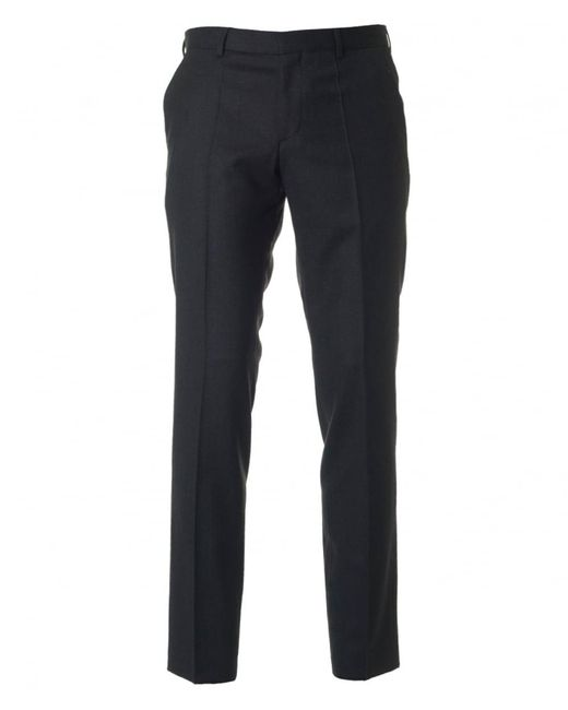 HUGO | Gray C-genisis Slim Fit Flannel Trousers for Men | Lyst