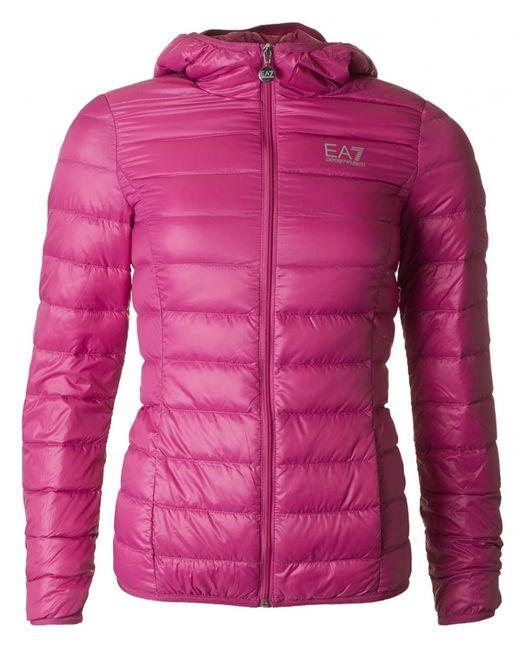 EA7 | Pink Pack Away Lightweight Jacket | Lyst
