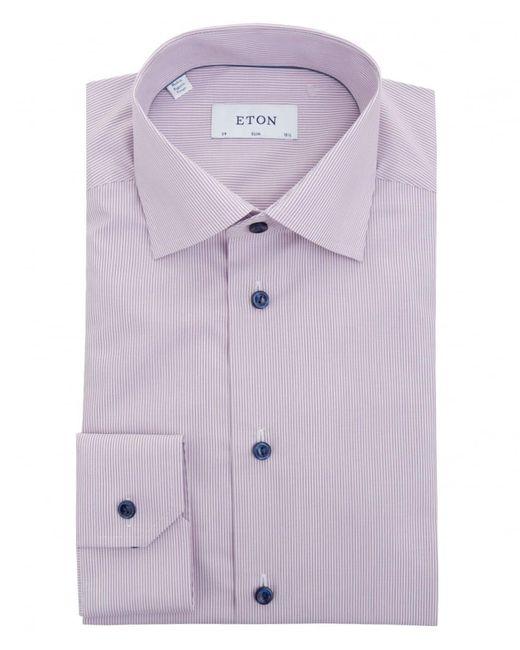 Eton of Sweden   Purple Fine Bengal Stripe Cotton Shirt for Men   Lyst