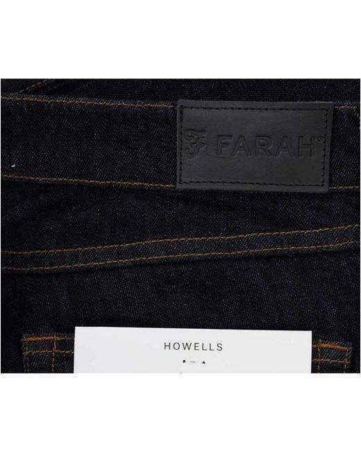 ... Farah - Blue Howells Skinny Fit Jeans for Men - Lyst 29673c5c994e