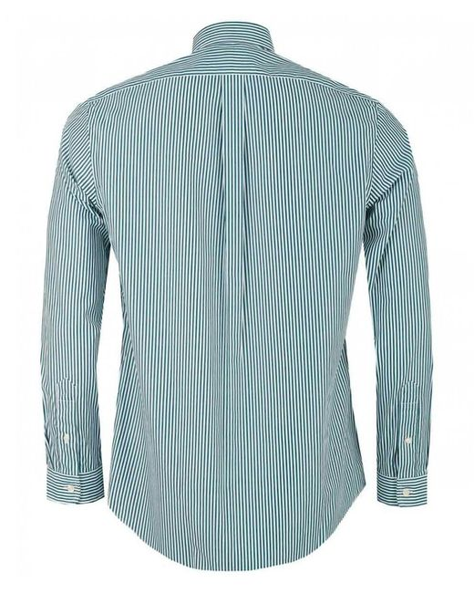 82615dbc ... coupon for polo ralph lauren green custom fit bengal striped shirt for men  lyst bcc25 6465f