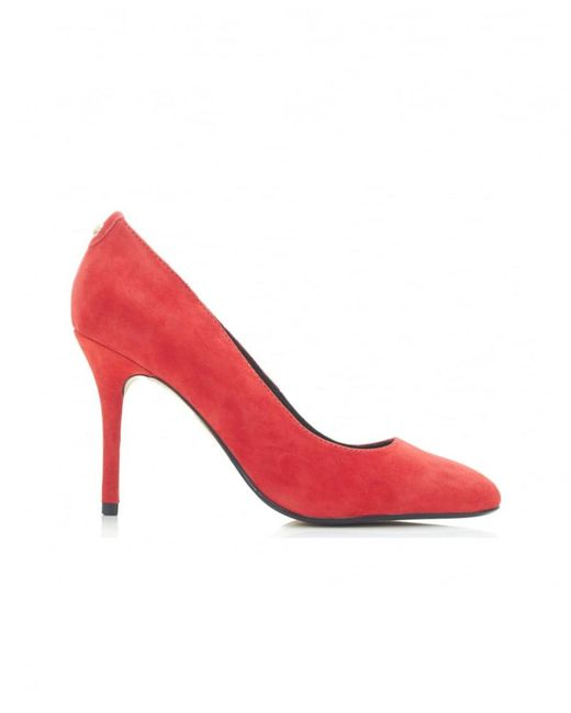Moda In Pelle - Red Classic Leather Court Shoes - Lyst