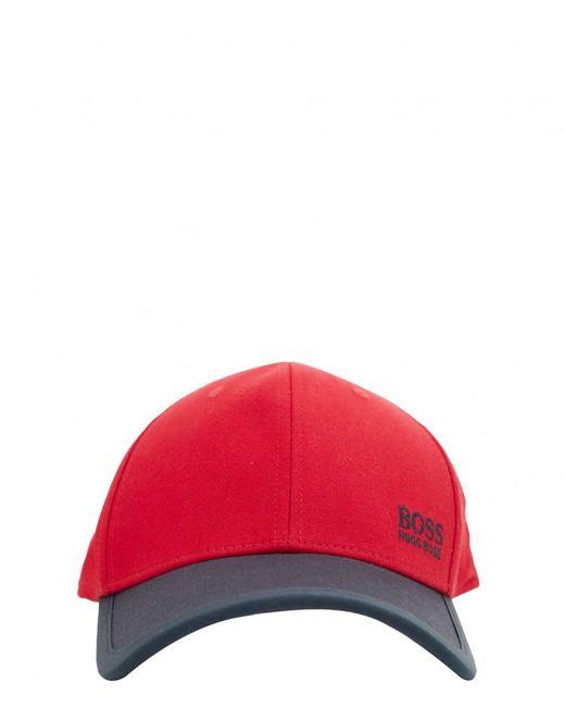 BOSS | Red Cap for Men | Lyst
