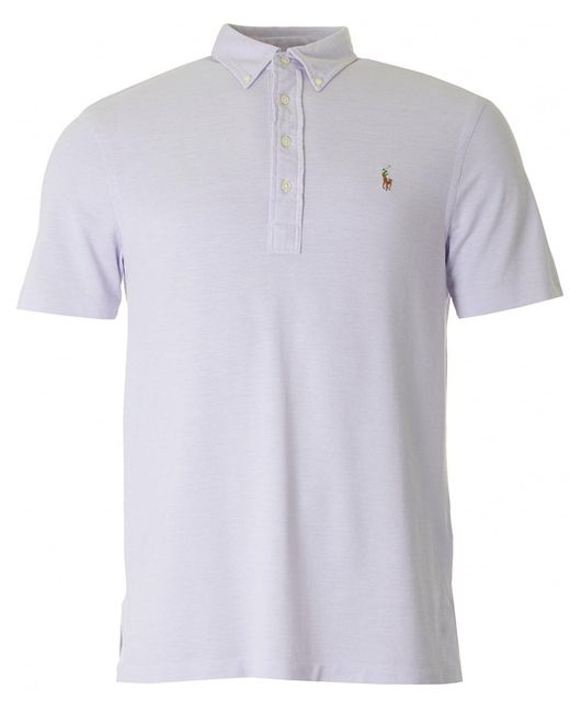 Polo Ralph Lauren | Purple Fashion Fit Button Down Collar Polo for Men | Lyst