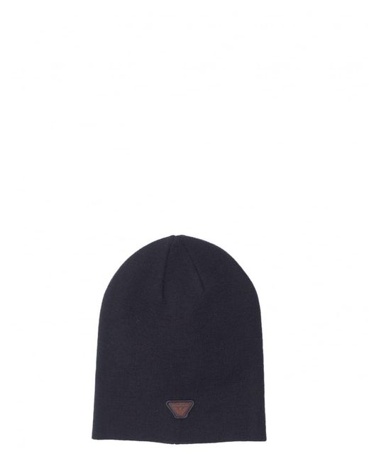 Armani Jeans | Blue Aj Badge Logo Beanie Hat for Men | Lyst