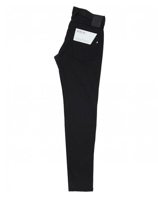 43641b9549f ... Replay - Black Anbass Slim Fit Hyperflex Jeans for Men - Lyst ...