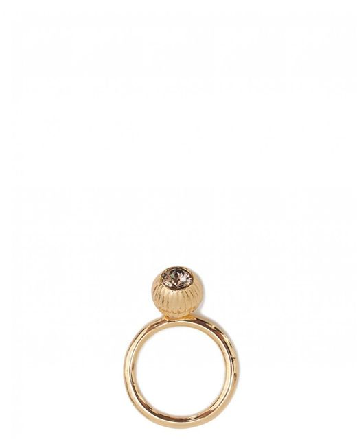 Ted Baker - Metallic Anessa Plisse Crystal Ball Ring - Lyst