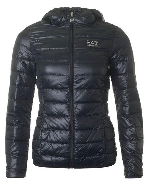 EA7 | Black Pack Away Lightweight Jacket | Lyst