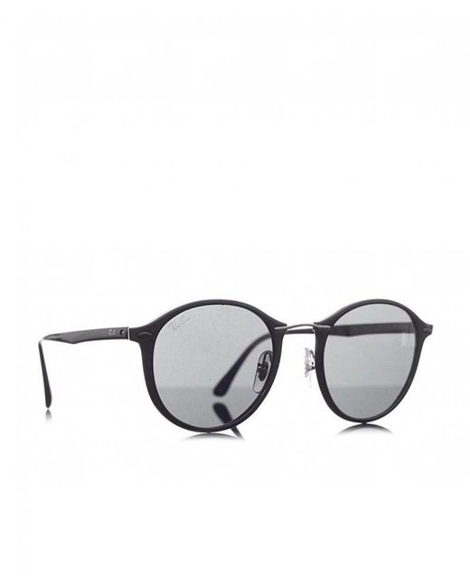 bf84015a9d ... Ray-Ban - Black Plastic Round Eye Sunglasses for Men - Lyst ...
