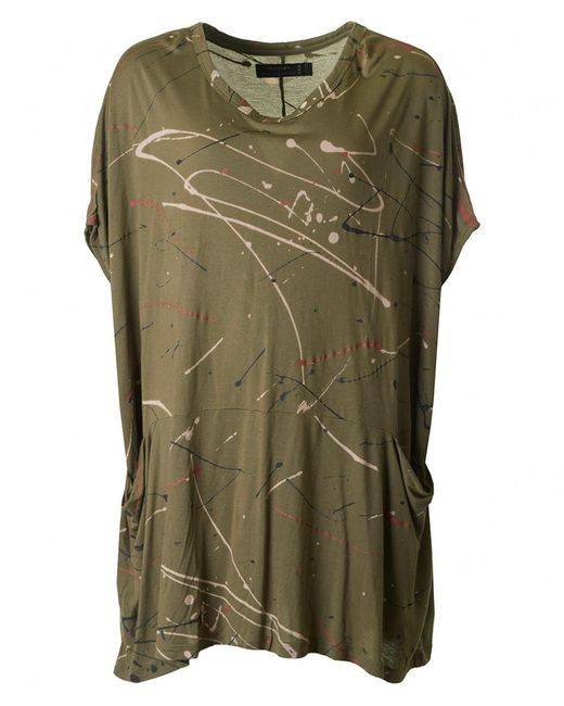 Religion - Green Paint Splash Tunic Dress - Lyst