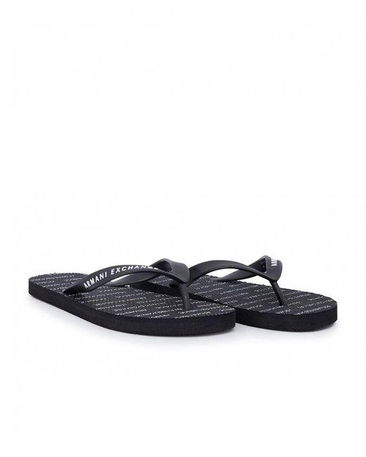 de784910ae7d Armani Exchange - Blue Flip Flops for Men - Lyst ...