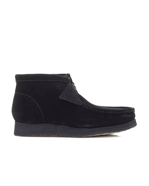 Clarks - Black Wallabee Boots for Men - Lyst