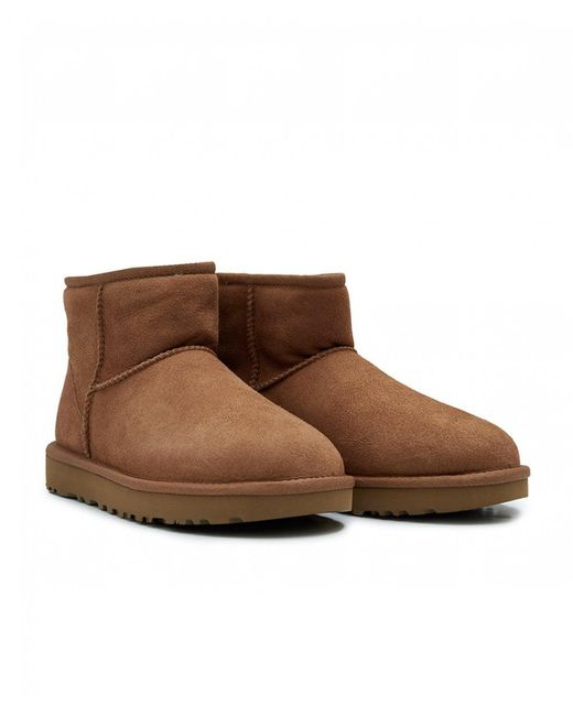 Ugg - Brown New Classic Mini Shearling Boots - Lyst