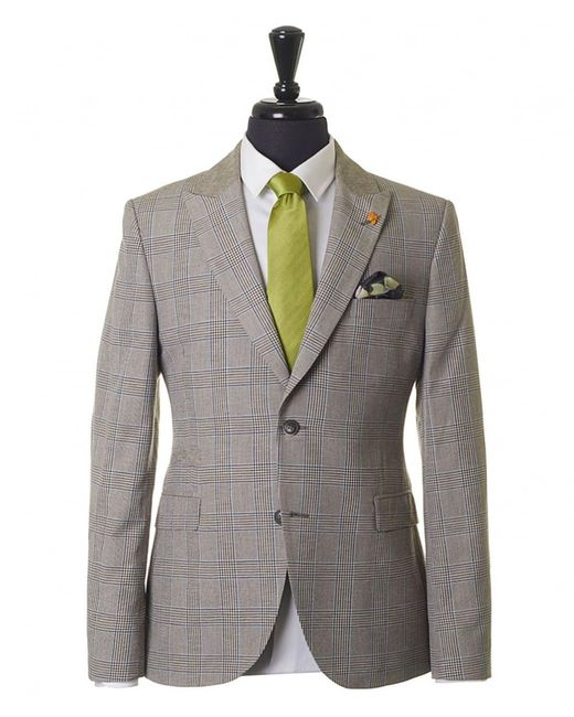 Gibson London - Green Pow Check Contrast Sleeve Jacket for Men - Lyst