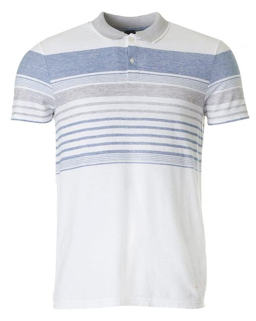 BOSS by Hugo Boss - White Pilak Yarn Dyed Striped Polo for Men - Lyst