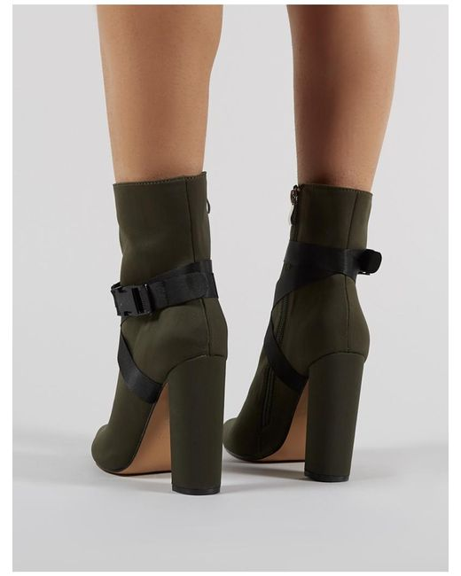 e180b8332f0 ... Public Desire - Multicolor Drift Sports Luxe Ankle Boots In Khaki -  Lyst ...