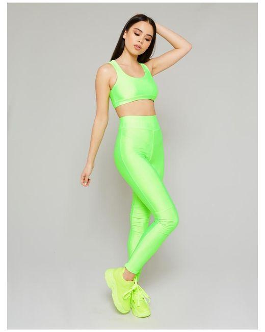 43f46405311c2 Public Desire Neon Green Crop Top And Legging Set in Green - Lyst