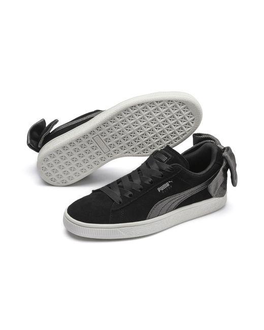 94df5f6bce4 ... Lyst PUMA - Multicolor Suede Bow Hexamesh Women s Sneakers ...